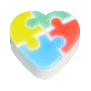 Milky Way Soap Mold, Autism Heart ( MW-451)