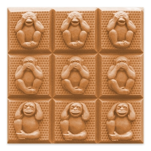Milky Way Soap Mold, Tray Monkeys (MW 065)