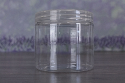 Jar, PET Clear, 16oz + Smooth Natural Lid (89/400)