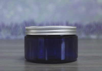 Jar, PET Blue, 4oz + Aluminum Lid (70/400)