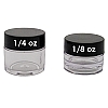 Lip Balm Pot, 1/8oz Black Lids