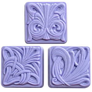Milky Way Mold, Art Nouveau Tiles (MW 055)