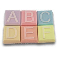 Milky Way Mold, Alphabet Block - A to F (MW 529)