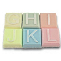 Milky Way Mold, Alphabet Block - G to L (MW 530)