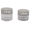 Lip Balm Pot, 1/8oz White Lids
