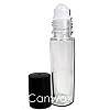 Roll On Vial 1/3 oz (Black Lid)