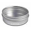 Seamless Tin, Flat 2oz w/Clear Lid