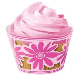 Cupcake Wrap 18CT Pink Party