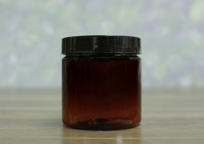 Jar, PET Amber, 4oz Deep + Smooth Black (58/400)