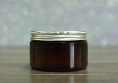 Jar, PET Amber, 4oz Wide + Aluminum Lid (70/400)