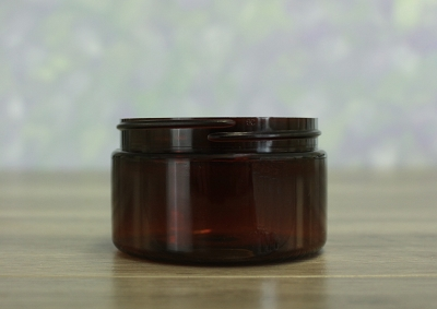 Jar, PET Amber, 4oz Wide + No Lid