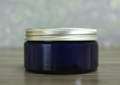Jar, PET Blue, 8oz + Aluminum Lid (89/400)