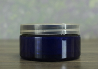 Jar, PET Blue, 8oz + Smooth Natural Lid (89/400)