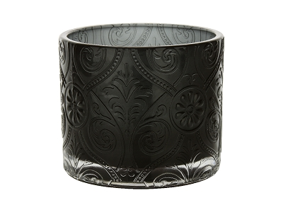 Candle Glass, Tumbler Decorative Black