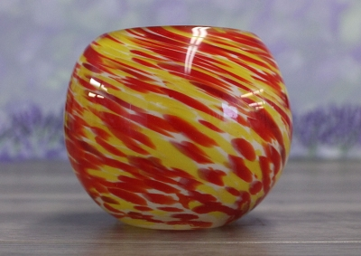 Jar, Globe Orange Candle Holder