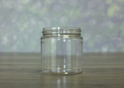Jar, PET Clear Deep, 4oz + No Lid