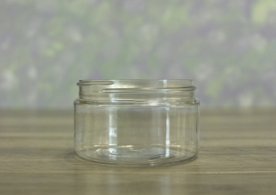 Jar, PET Clear 4oz Wide + No Lid