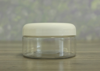 Jar, PET Clear, 8oz + Dome White Lid (89/400)