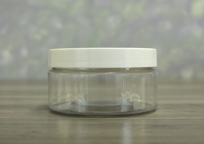 Jar, PET Clear, 8oz + Smooth PS Lined White (89/400)