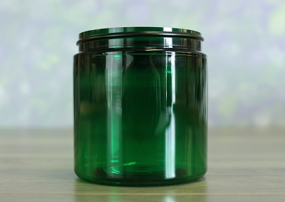 Jar, PET Green, 8oz Deep + No Lid