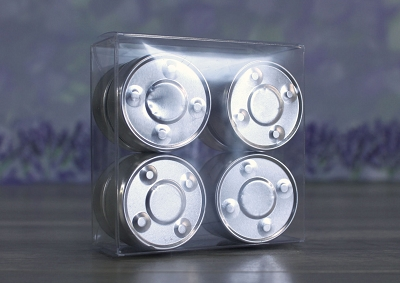 Box, Clear (fits 8pc Alum. Tealights)