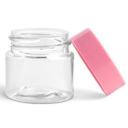 Lip Balm Pot, 1/4oz Pink Lids