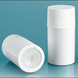 White Styrene Push Up Deodorant Containers
