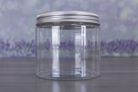 Jar, PET Clear, 16oz + Aluminum (89/400)
