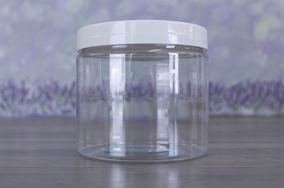 Jar, PET Clear, 16oz + Smooth White (89/400)