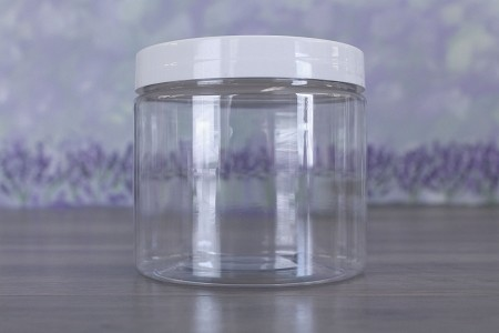 Jar, PET Clear, 16oz + Smooth PS Lined White (89/400)