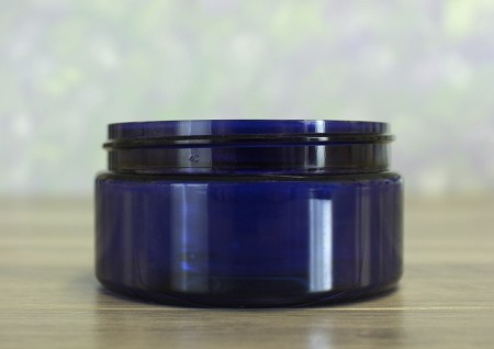 Jar, PET Blue, 8oz + No Lid