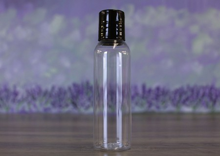 Bottle, Bullet 1oz Clear + Disc Black (20/410)