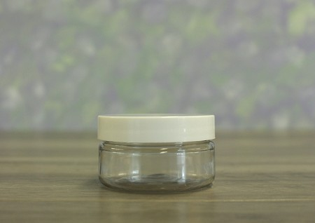 Jar, PET Clear, 2oz + Smooth White Lid (58/400)