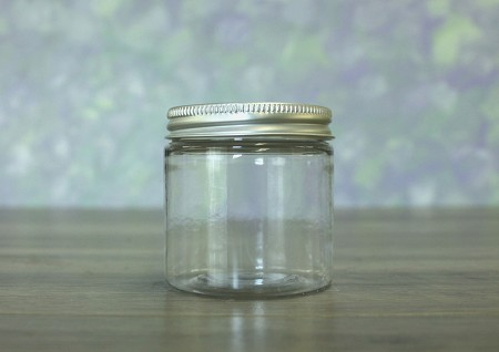 Jar, PET Clear Deep, 4oz + Aluminum Lid (58/400)