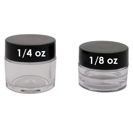 Lip Balm Pot, 1/4oz Black Lids