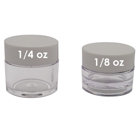 Lip Balm Pot, 1/4oz White Lids