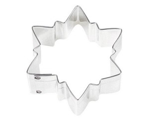 "Cookie Cutter, 3"" Pointed Snowflake"