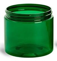 Jar, PET Green, 8oz Deep (70/400)