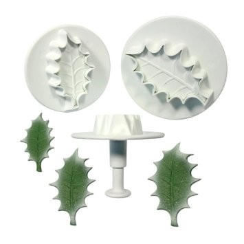 Plunger Cutter, Holly Leaf 3pcs