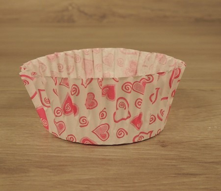 Baking Cup, Large Heart 1,000pcs