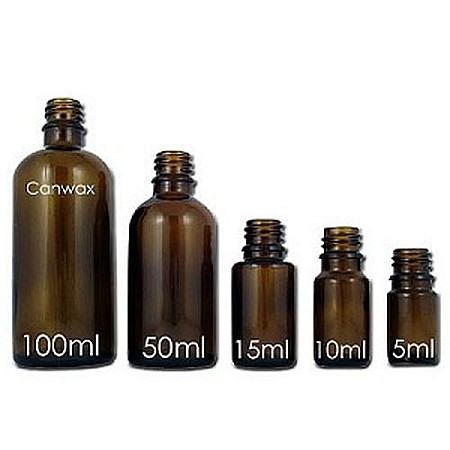 Glass Boston Bottle, Amber 5ml