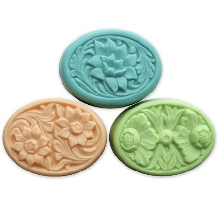 Milky Way Mold, Floral Ovals (MW 074)